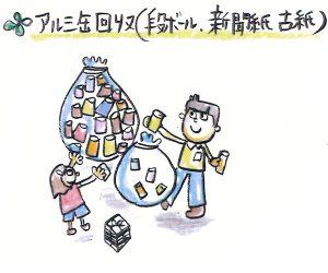 アルミ缶回収・ダンボール・新聞紙・古紙回収