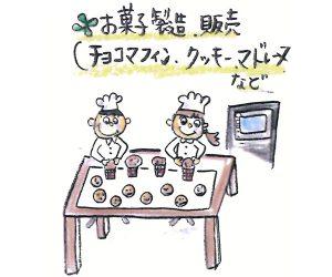 お菓子製造・販売・チョコマフィン・クッキー・マドレーヌなど